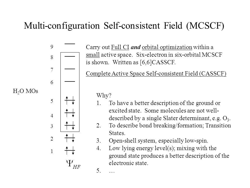 Multi-configuration Self-consistent Field (MCSCF)