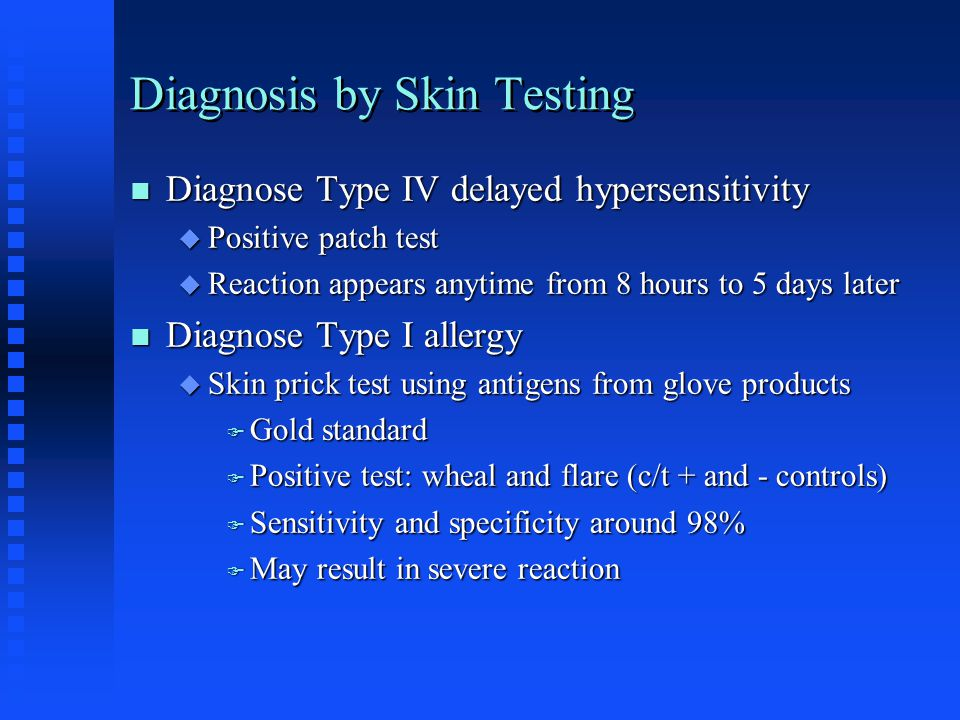 Diagnosis by Skin Testing