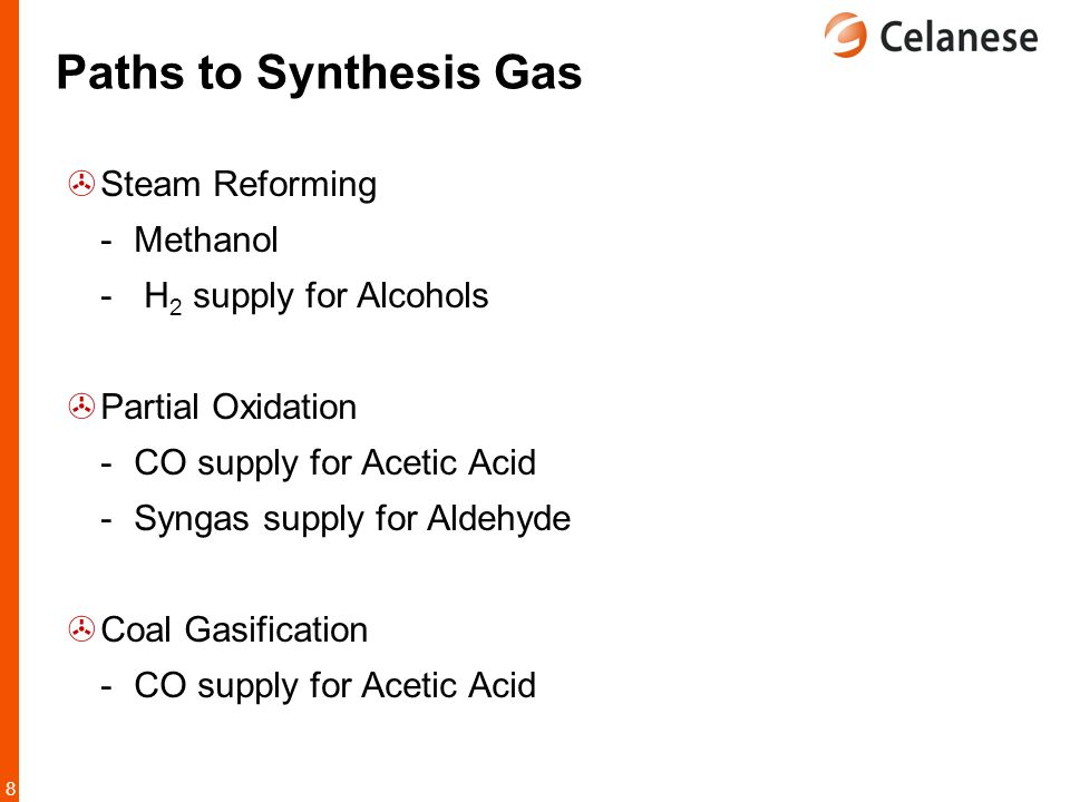 Paths to Synthesis Gas Steam Reforming Methanol H2 supply for Alcohols