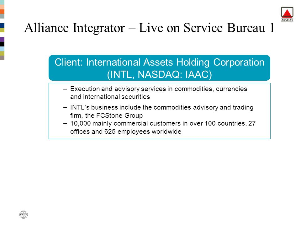 Alliance Integrator – Live on Service Bureau 1