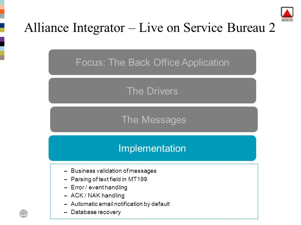 Alliance Integrator – Live on Service Bureau 2