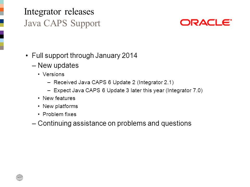 Integrator releases Java CAPS Support