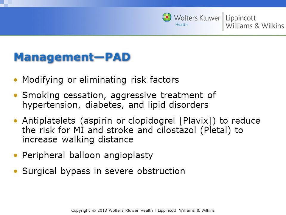 Management—PAD Modifying or eliminating risk factors