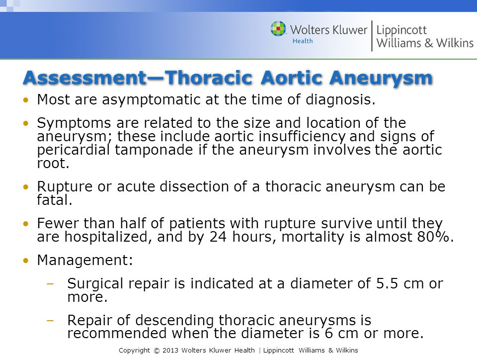 Assessment—Thoracic Aortic Aneurysm