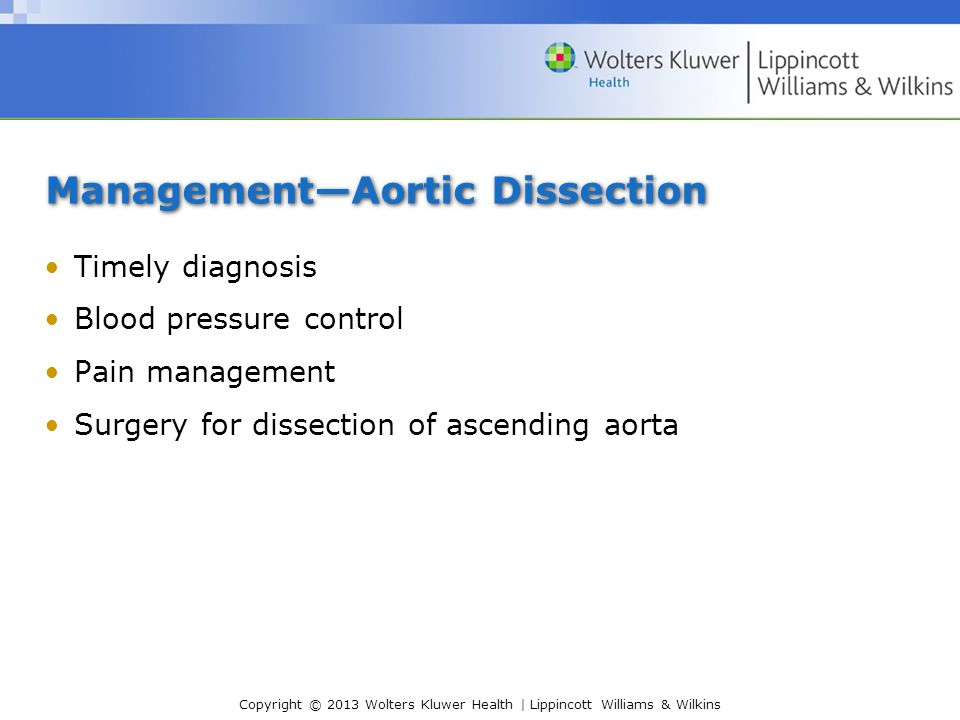 Management—Aortic Dissection