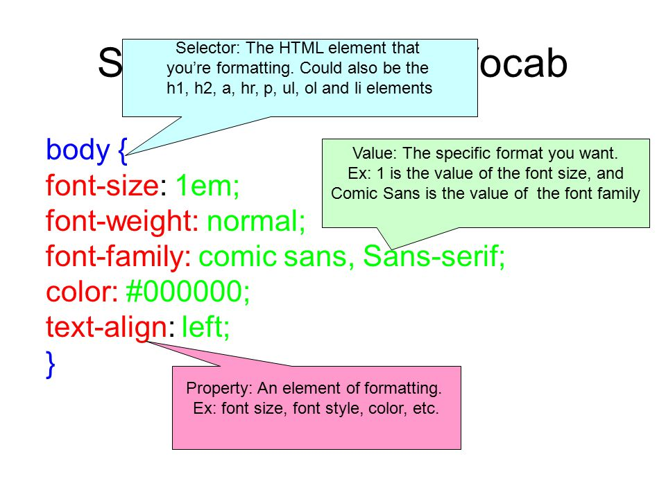Style Components: Vocab