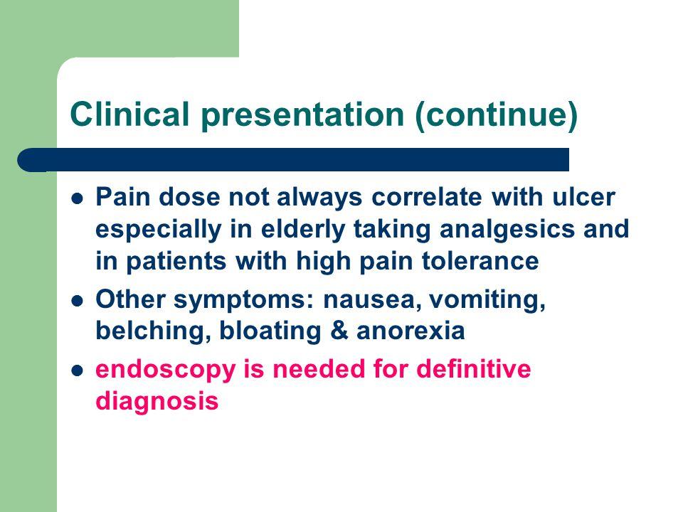 Clinical presentation (continue)
