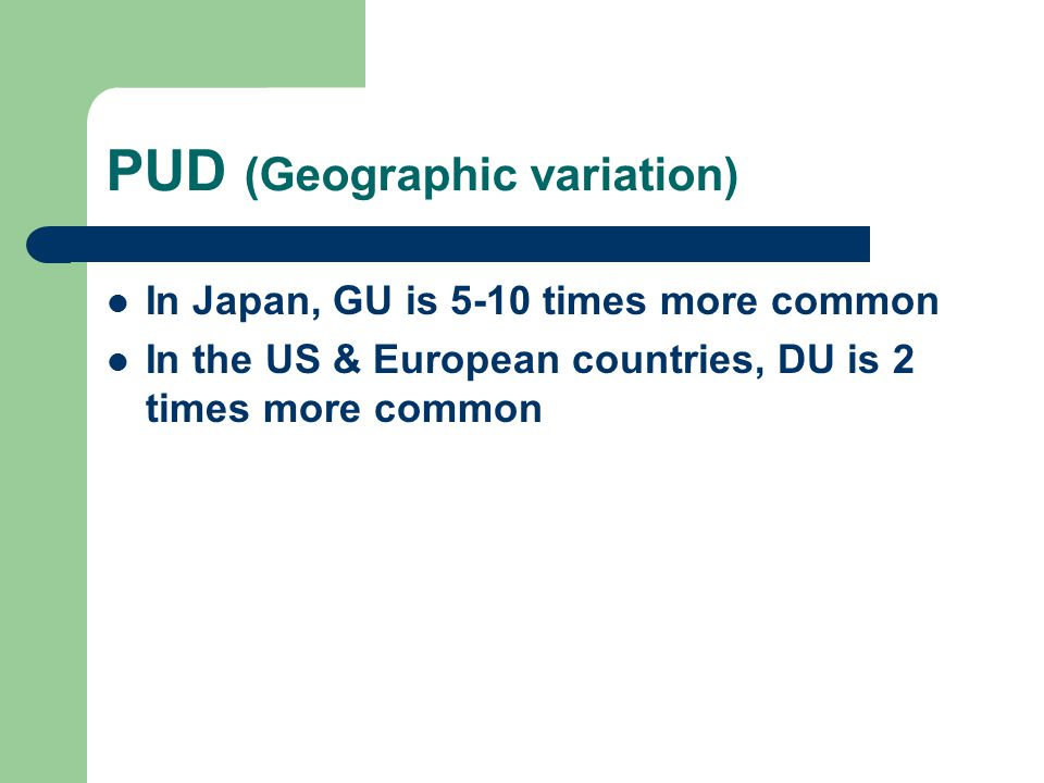 PUD (Geographic variation)
