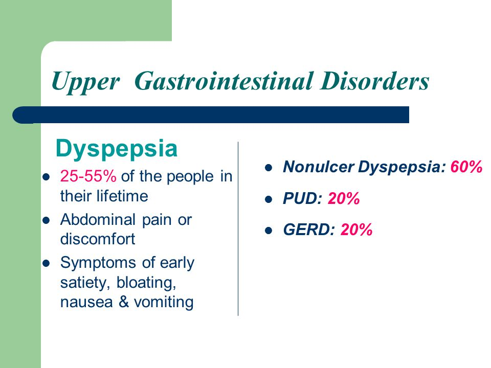 Upper Gastrointestinal Disorders