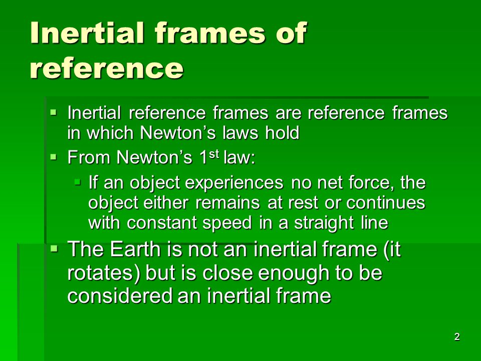 Inertial frames of reference