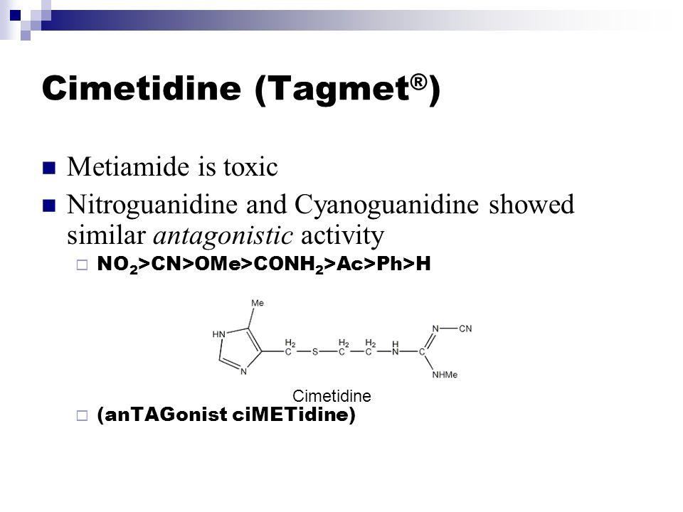 Cimetidine (Tagmet®) Metiamide is toxic