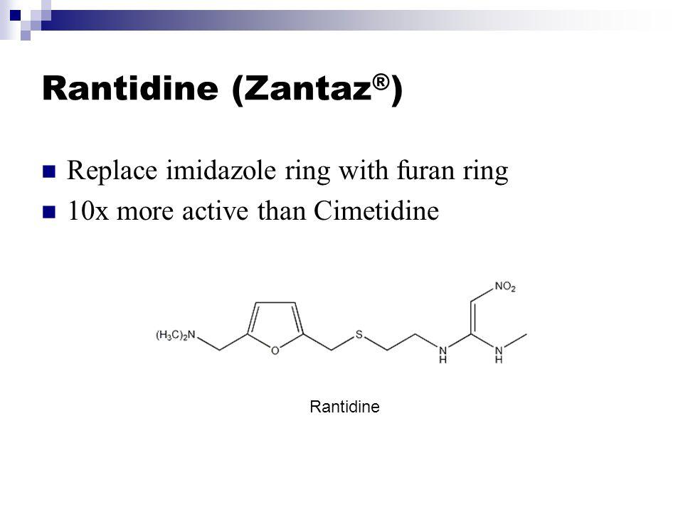 Rantidine (Zantaz®) Replace imidazole ring with furan ring