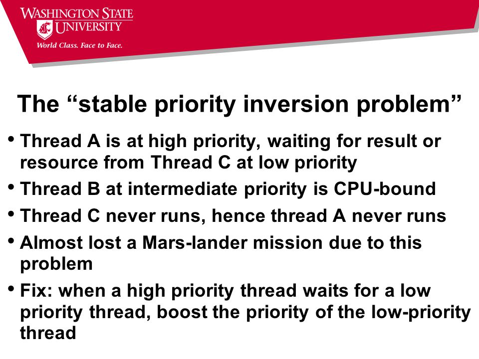 The stable priority inversion problem