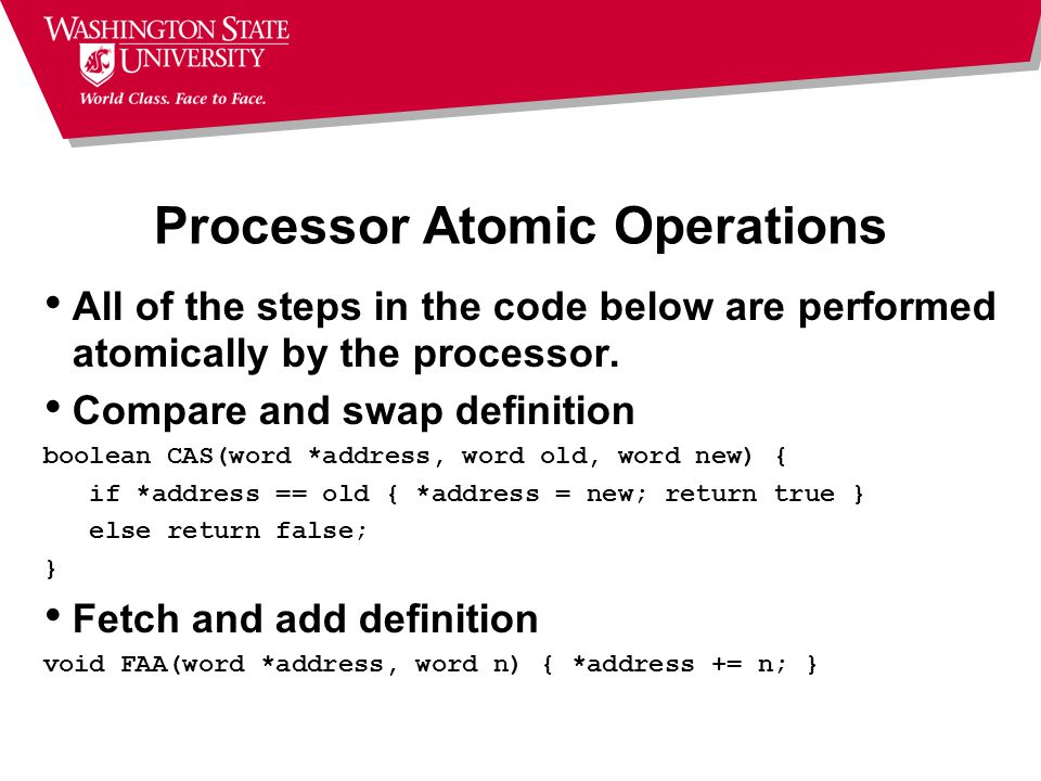 Processor Atomic Operations