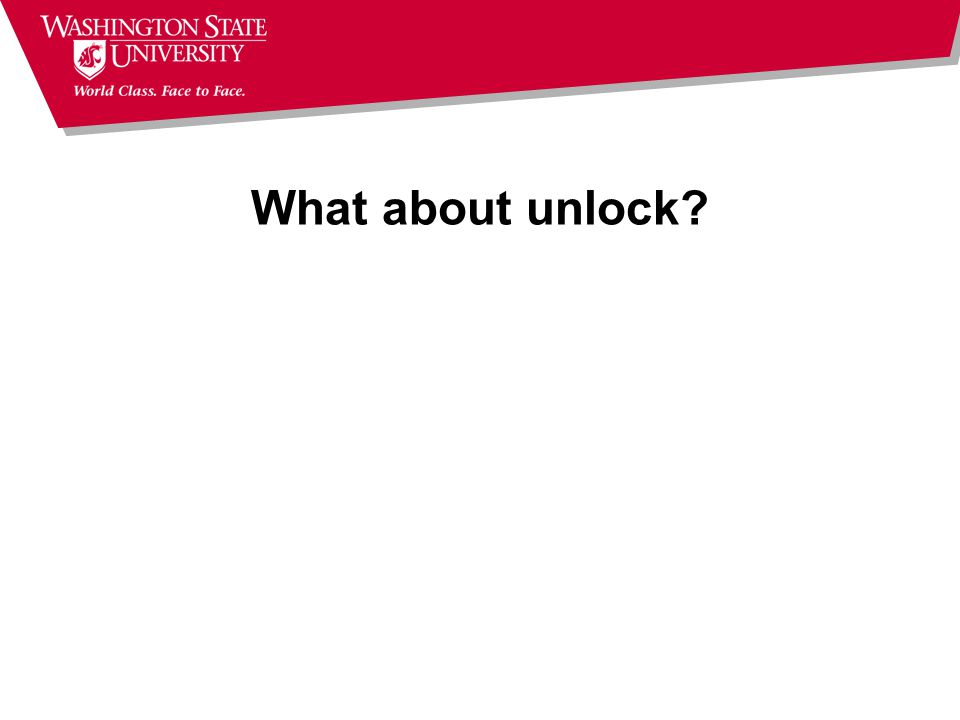 What about unlock