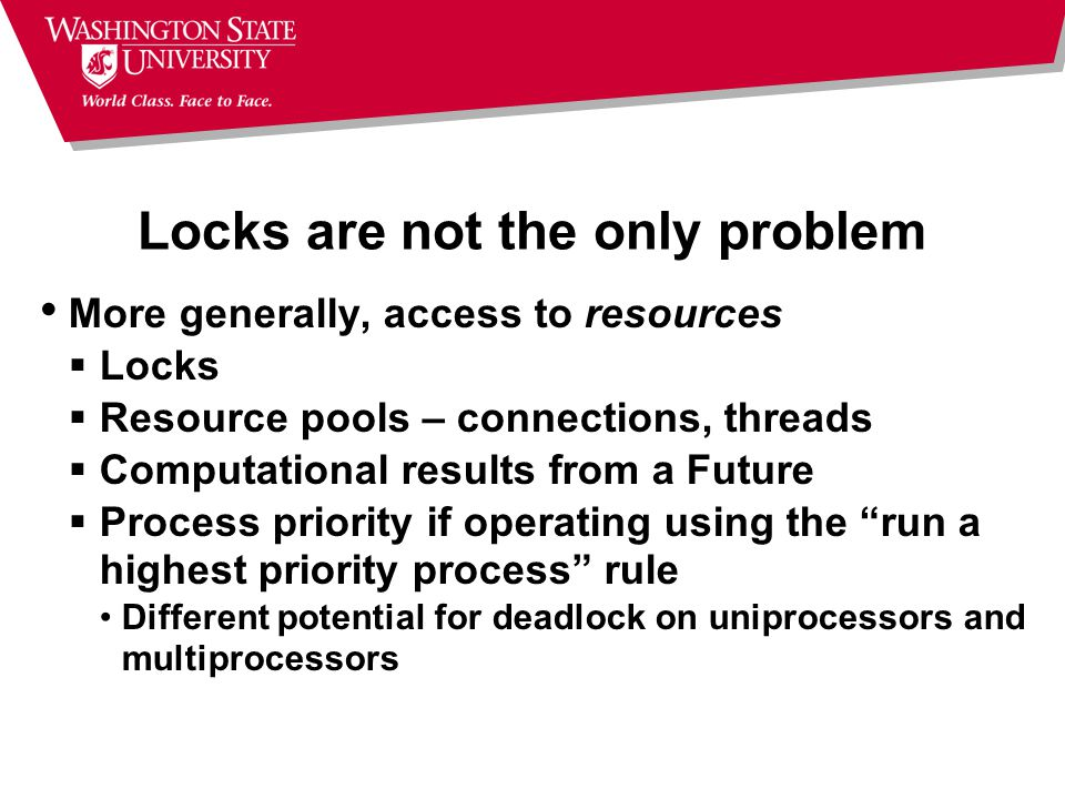 Locks are not the only problem