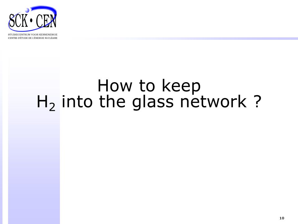 H2 into the glass network