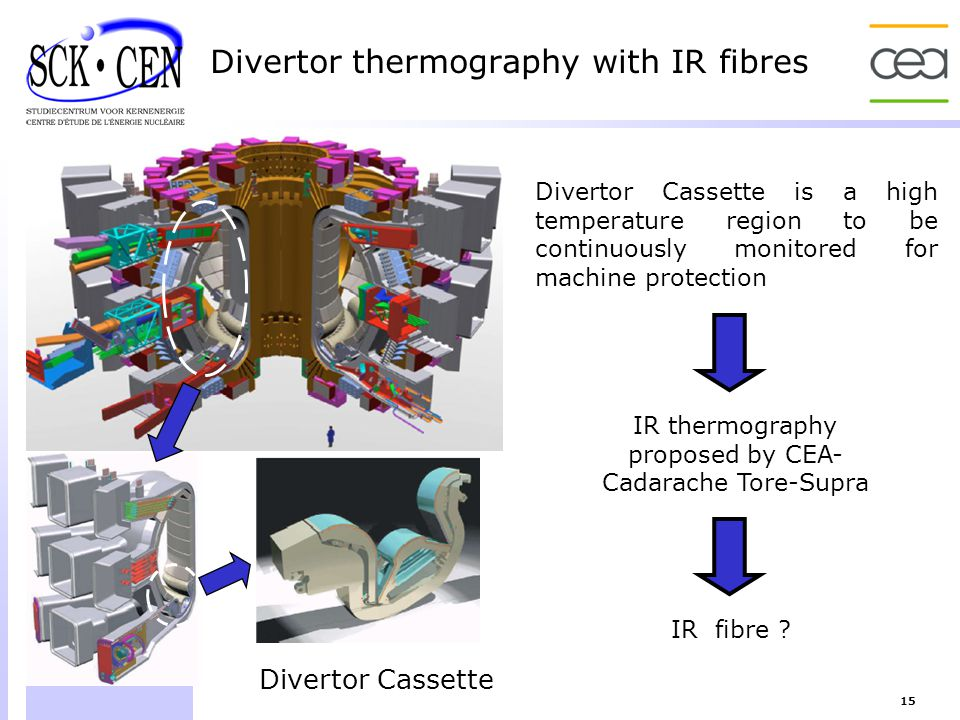 Divertor thermography with IR fibres