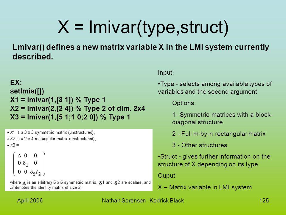 X = lmivar(type,struct)