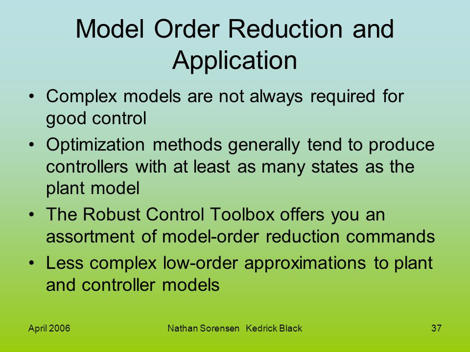 Model Order Reduction and Application