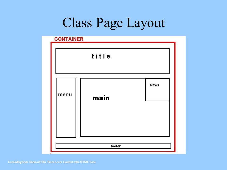 Class Page Layout