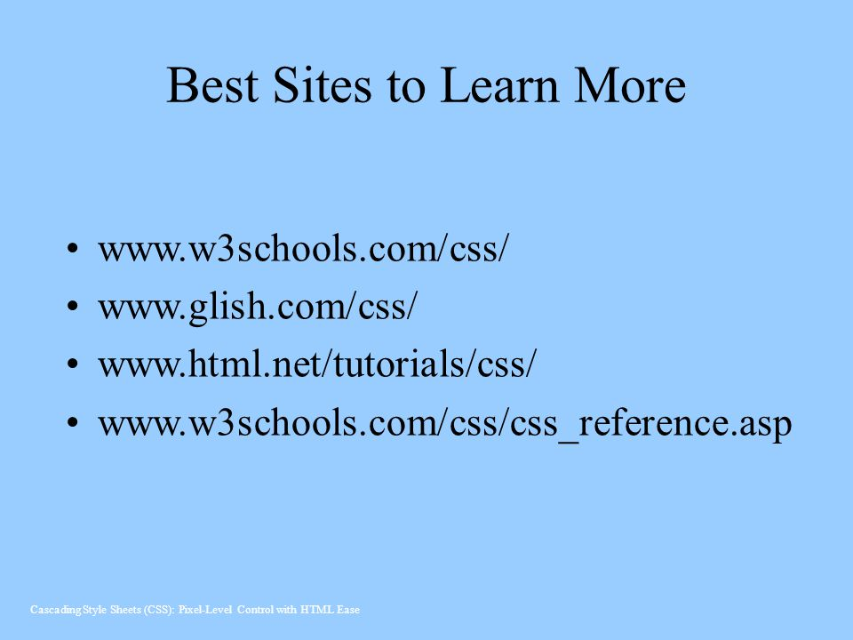 Best Sites to Learn More