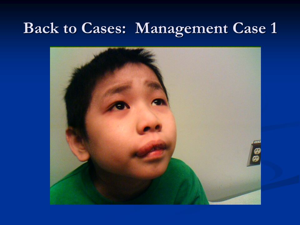 Back to Cases: Management Case 1