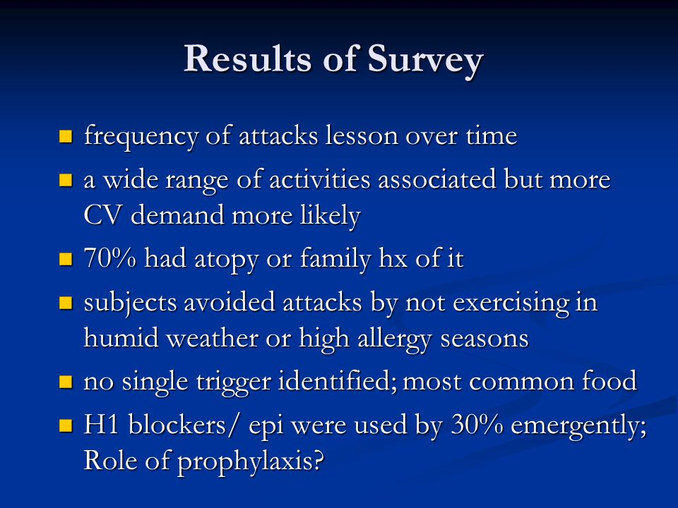 Results of Survey frequency of attacks lesson over time
