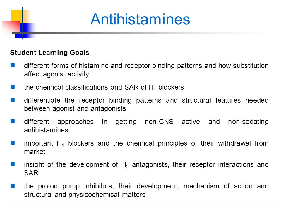 Sedating antihistamines side effects