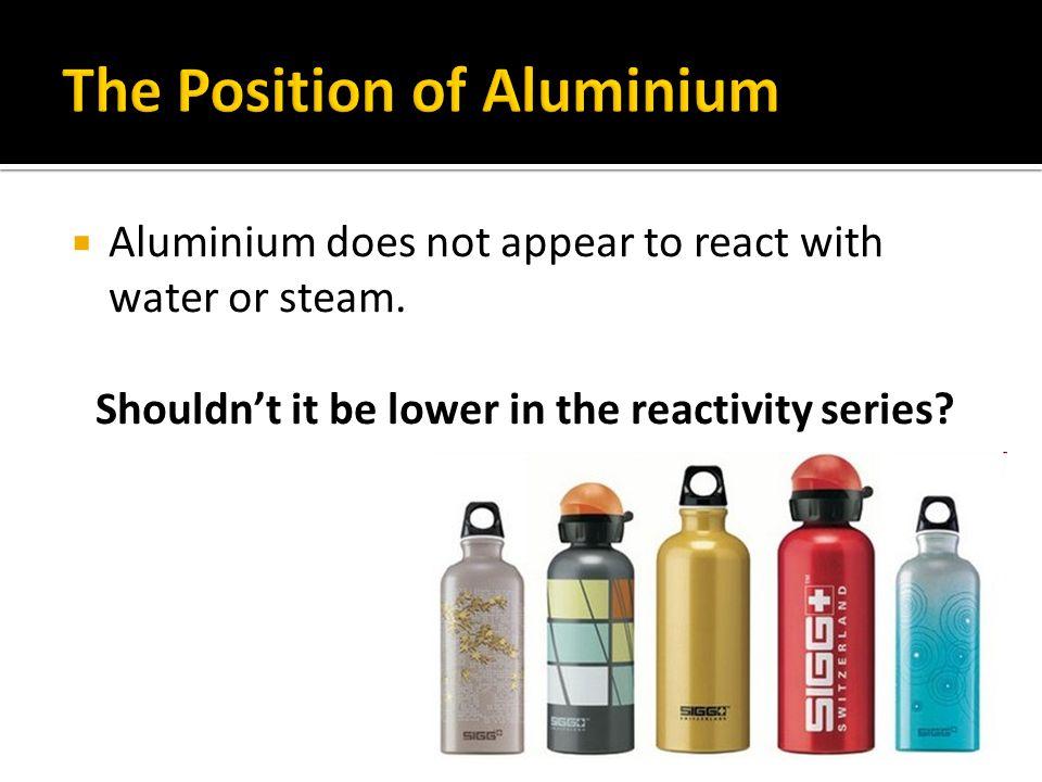 The Position of Aluminium