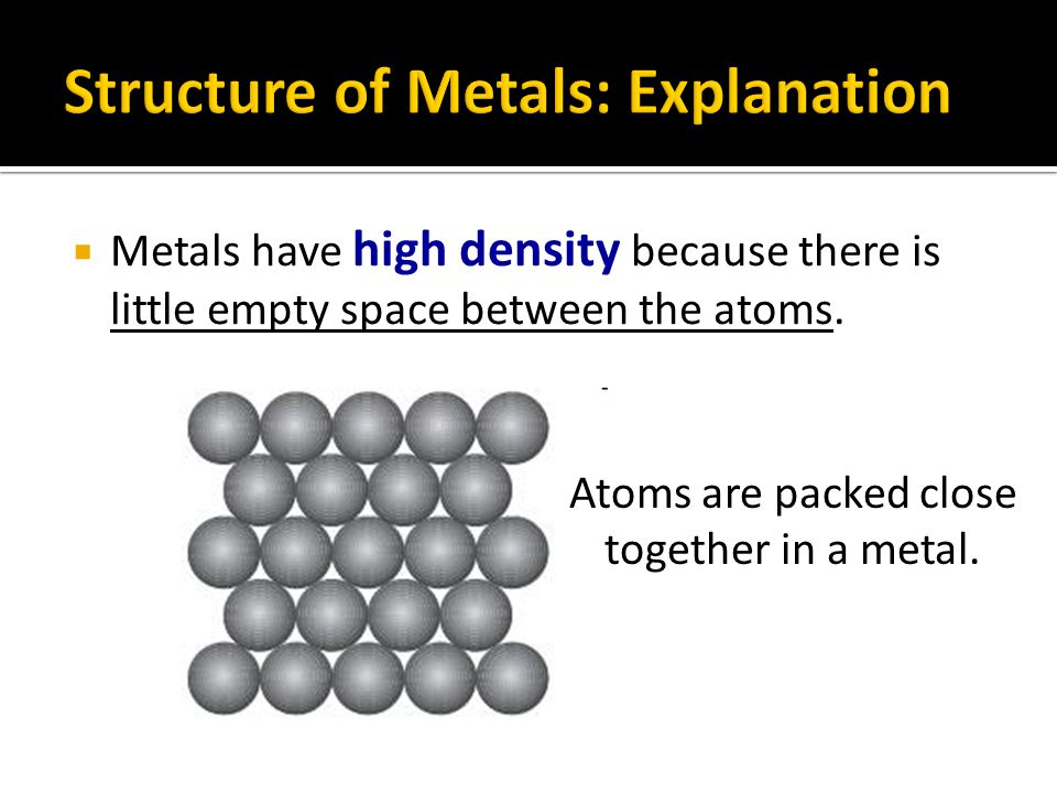 Structure of Metals: Explanation