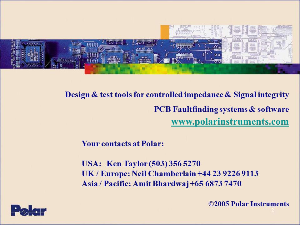 Your contacts at Polar: