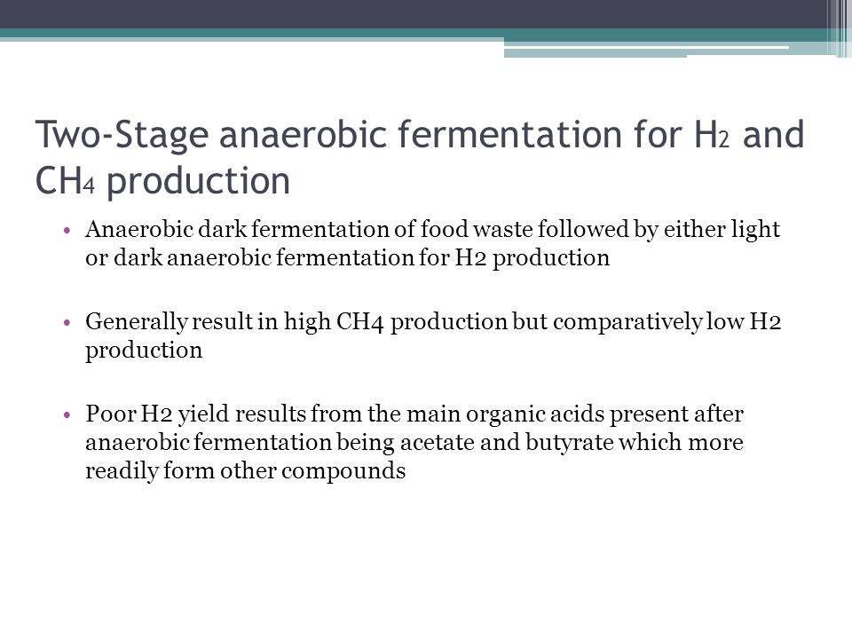 Two-Stage anaerobic fermentation for H2 and CH4 production