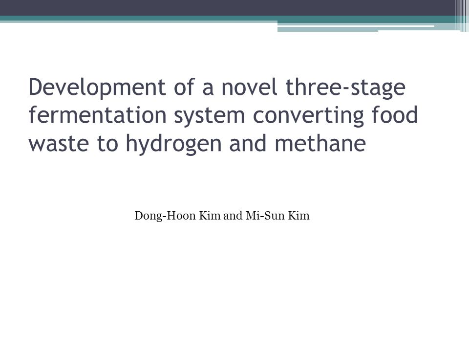 Development of a novel three-stage fermentation system converting food waste to hydrogen and methane