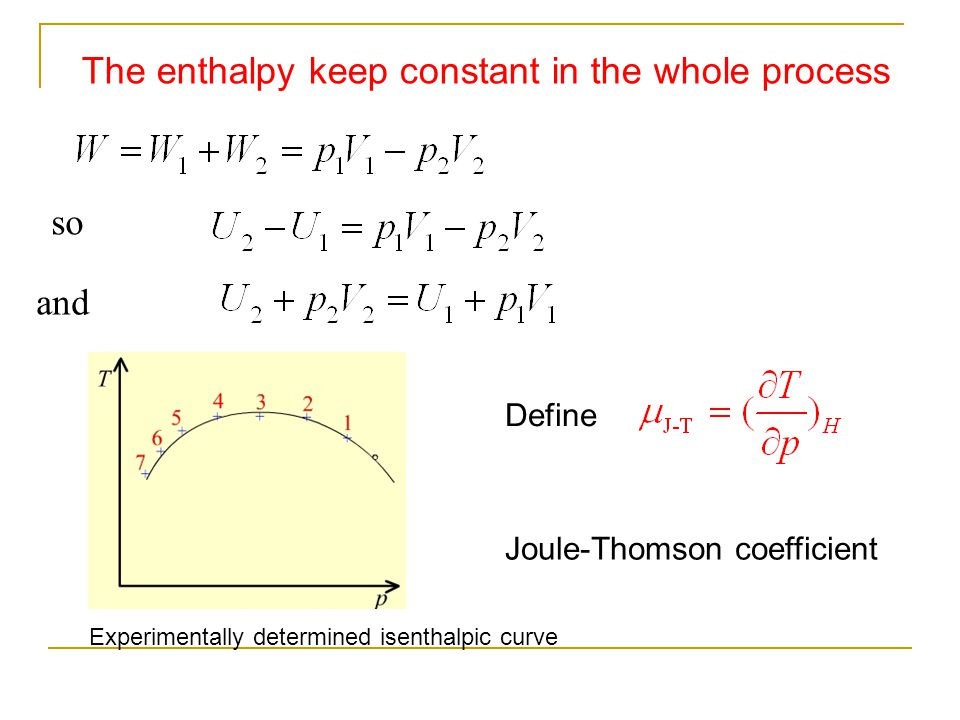 The enthalpy keep constant in the whole process