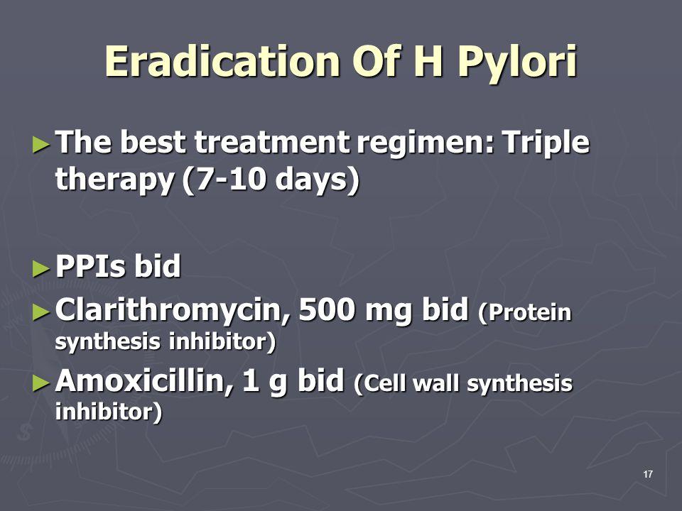 Eradication Of H Pylori