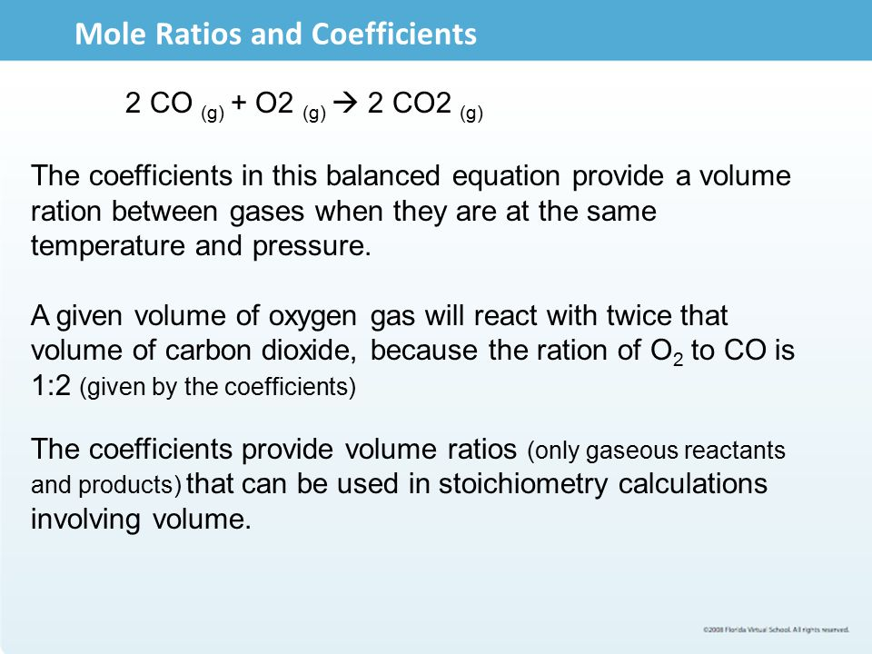 Mole Ratios and Coefficients