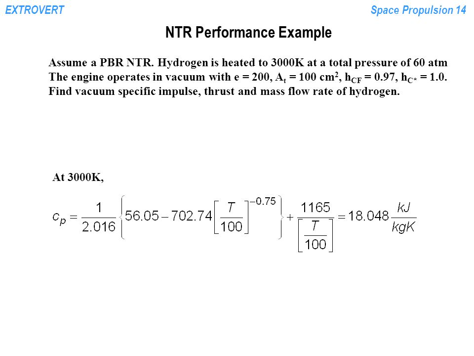 NTR Performance Example