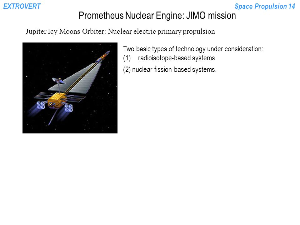 Prometheus Nuclear Engine: JIMO mission