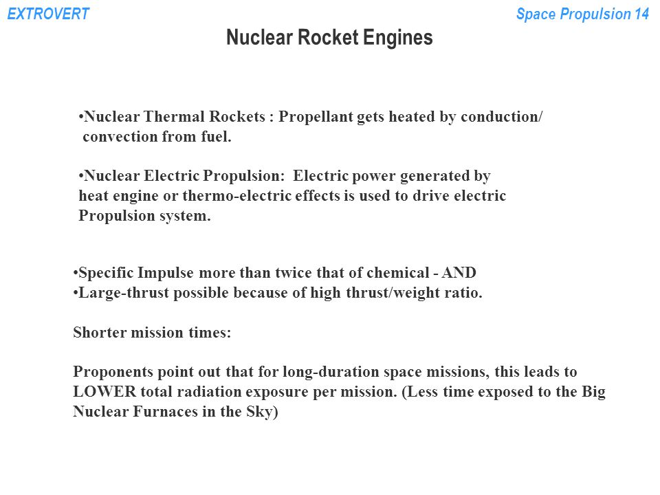 Nuclear Rocket Engines