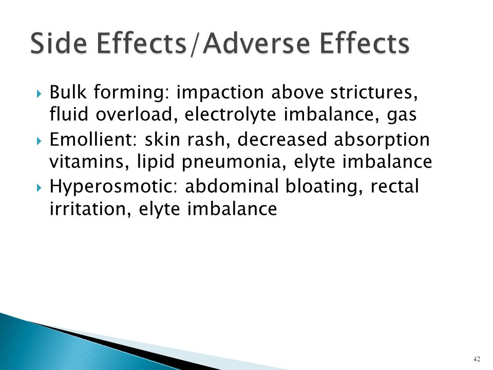 Side Effects/Adverse Effects