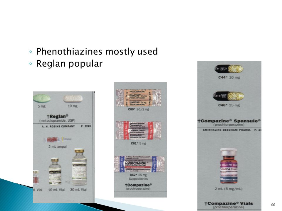 Phenothiazines mostly used