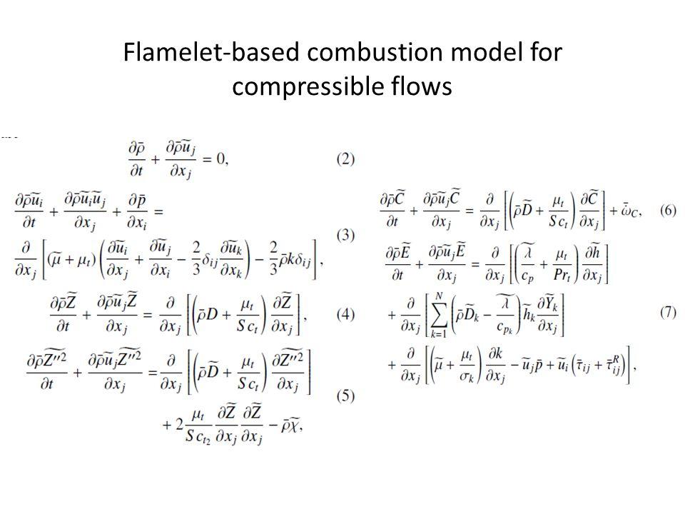 Flamelet-based combustion model for compressible flows