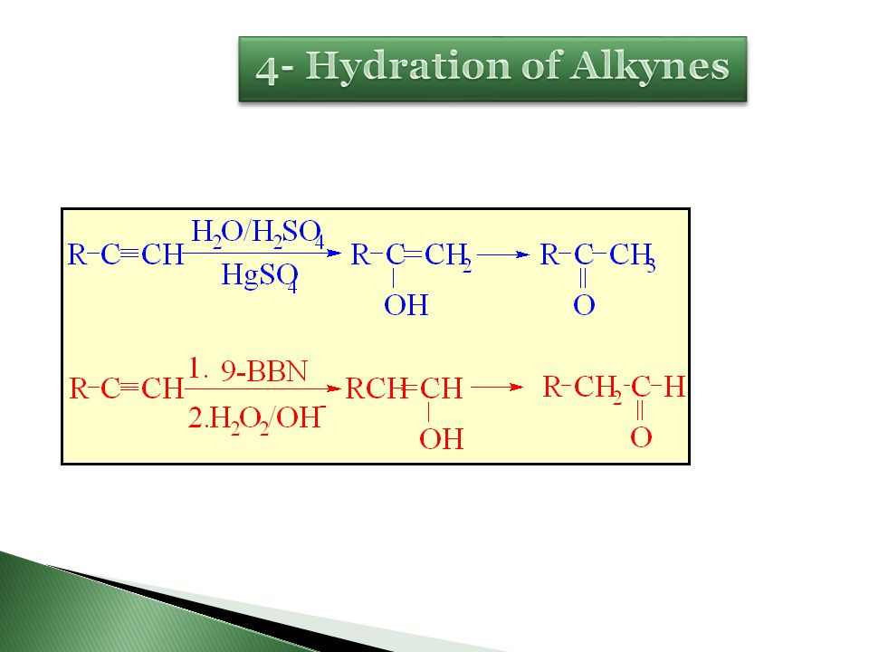 4- Hydration of Alkynes