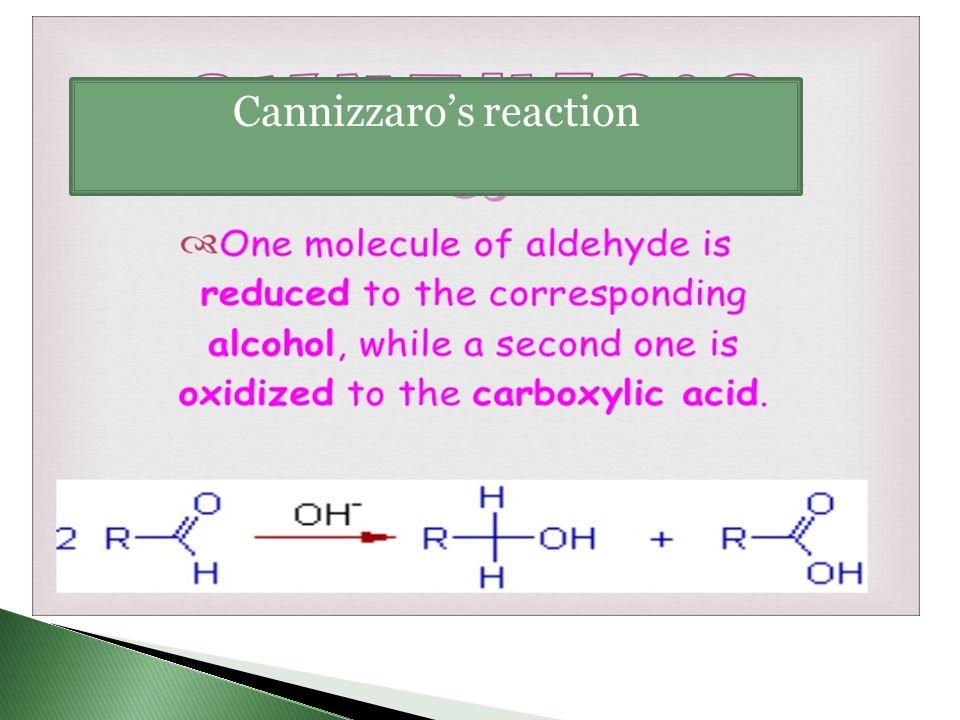 Cannizzaro's reaction