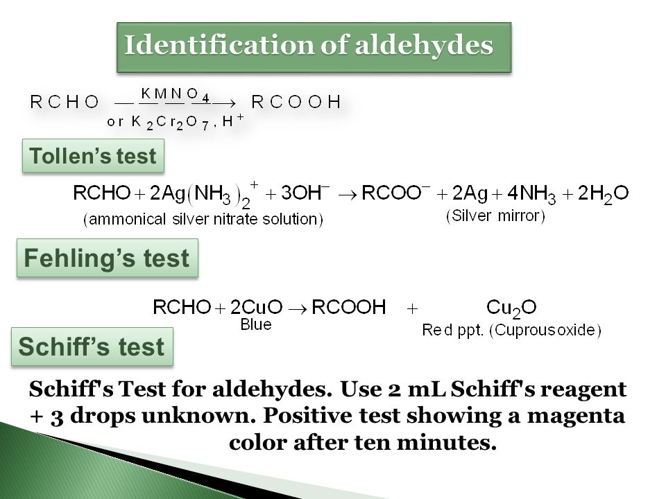 Identification of aldehydes