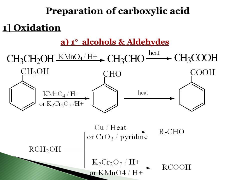 Preparation of carboxylic acid