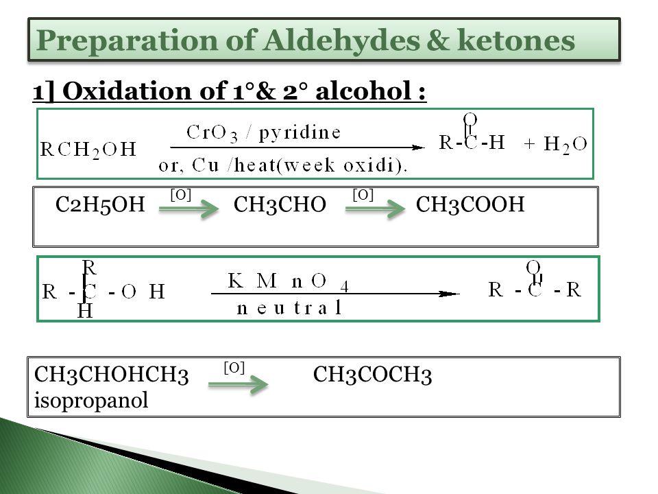 Preparation of Aldehydes & ketones
