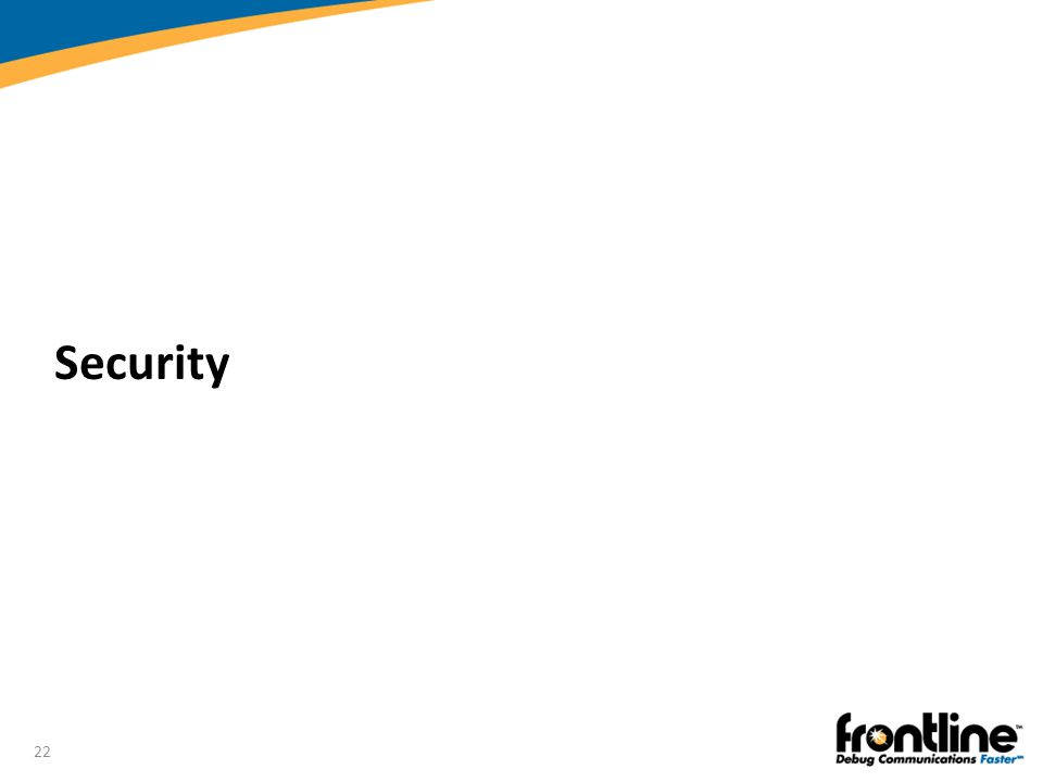 Security Introduction to Bluetooth®