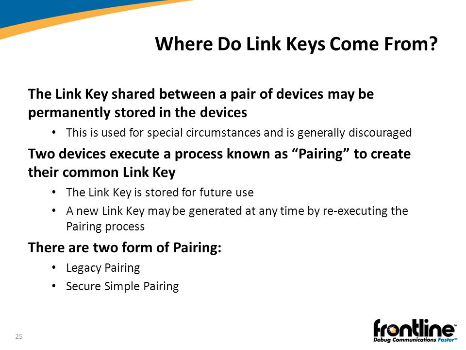 Where Do Link Keys Come From